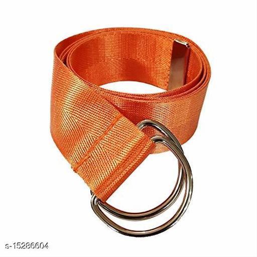Men & Women Casual, Evening Orange Nylon Belt