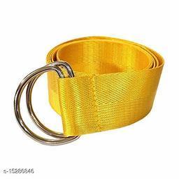 Men & Women Casual, Evening Yellow Nylon Belt