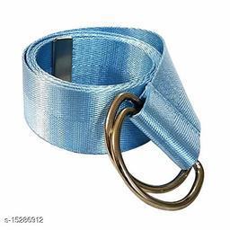Men & Women Casual, Evening Blue Nylon Belt