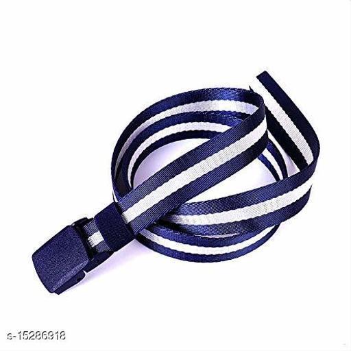 Men & Women Casual, Evening, Formal White, Blue Nylon Belt