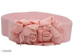 Women Casual Pink Faux Leather Belt