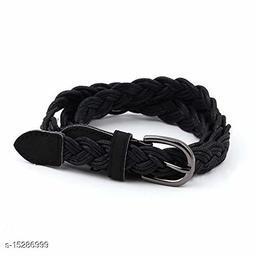 Women Casual, Formal, Evening Black Leather Belt