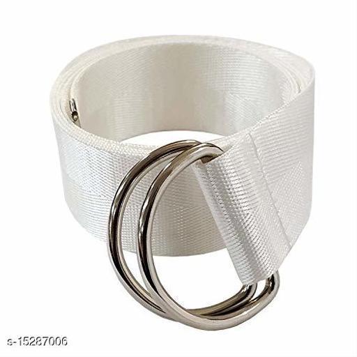 Men & Women Casual, Evening White Nylon Belt