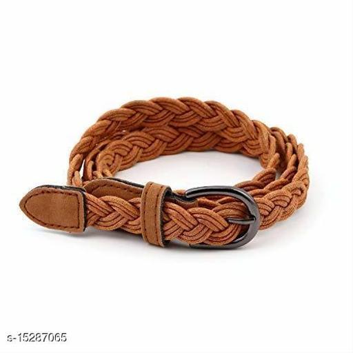 Women Brown Leather Belt