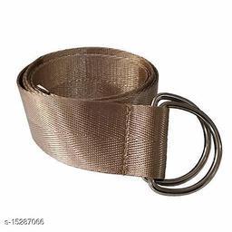 Men & Women Casual, Evening Brown Nylon Belt
