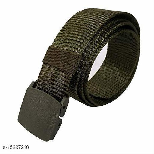 Men & Women Green Fabric Belt