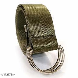 Men & Women Casual, Evening Green Nylon Belt
