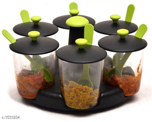Jars & Container Pickle Container ( Pack Of 6 )  *Material * Plastic  *Description * It Has 6 Pieces Of Pickle Container With Stand  *Sizes Available* Free Size *   Catalog Rating: ★3.9 (10)  Catalog Name: Classic Tableware Utilities Vol 3 CatalogID_199045 C130-SC1639 Code: 684-1531234-