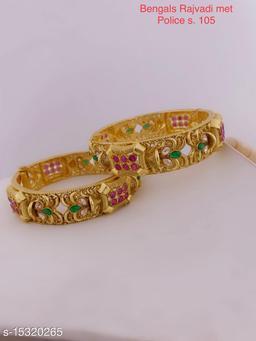 antiqua rajvadi copper direct gold kangan for women and girl
