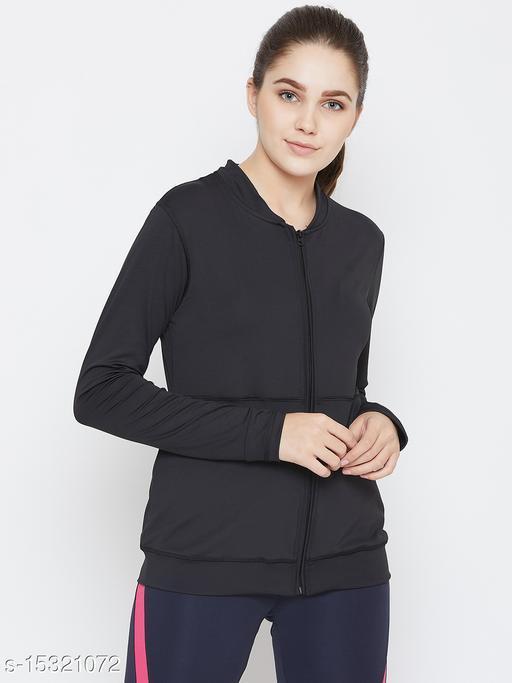 PERFKT-U Women's Front Zipper Athleisure Sweatshirt