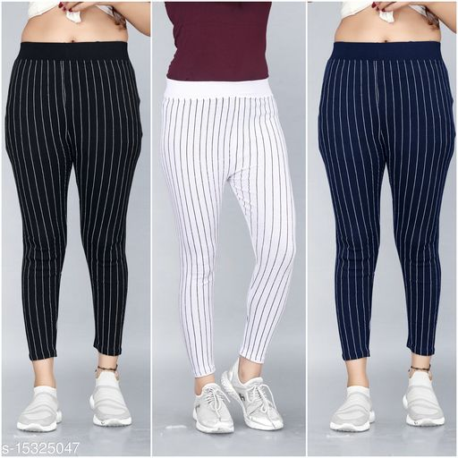 Trendy Womens Jegggings Pack of 3 (size 26 to 36)