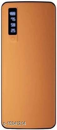 HBNS Smarty Leather 20000mAh Dual USB Port Fast Charging Power Bank(Brown)