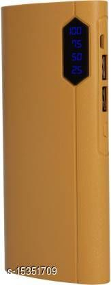 HBNS Genuinely 20000mAh Daul USB Port Fast Charging Power Bank(Brown)