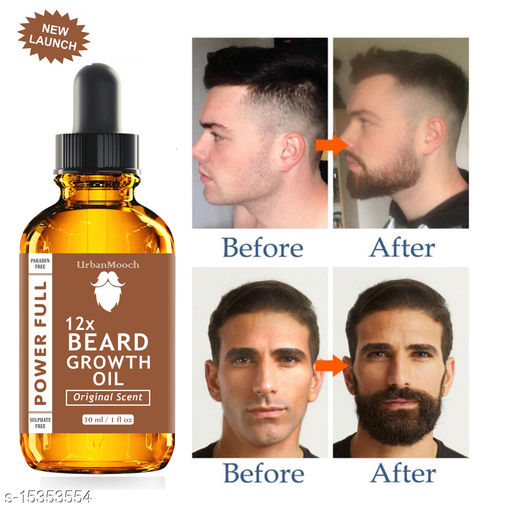 100% Natural - Beard Growth Oil For Men Specially for Mooch, Beard &