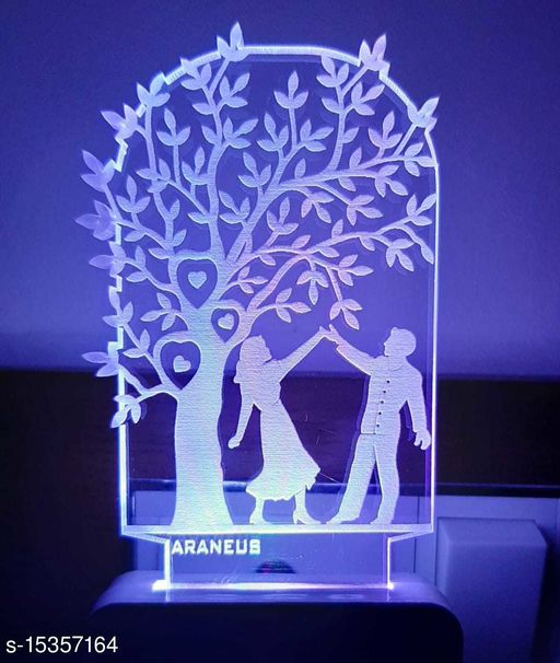3D STYLISH Just Married Couple Night Lamp with 7 Color Changing Light for Gift,for Bedroom,livingroom pack of 1