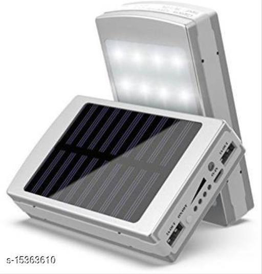 MI-STS Solar 20000mAh Dual USB Port With Flash Light Fast Charging Power Bank(Silver)