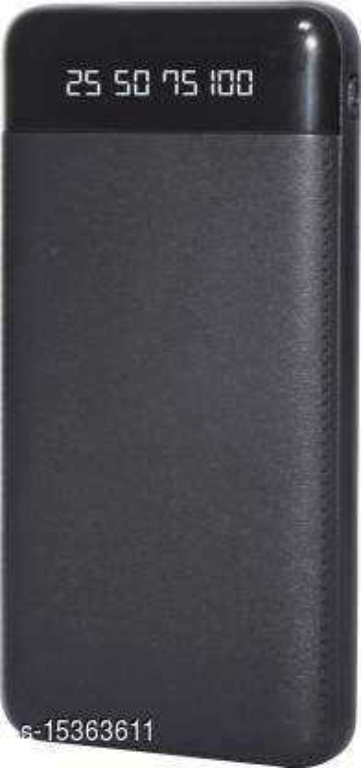 MI-STS Big Leather 30000mAh Dual USB Port With Flash Light Fast Charging Power Bank(Black)
