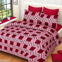 Comfy Microfiber 3D Printed Double Bedsheet