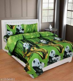 Comfy Microfiber Printed Double Bedsheet