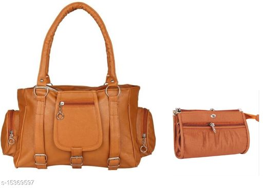 CLASSIC DESIGN MUSTARD WITH POUCH HAND BAG