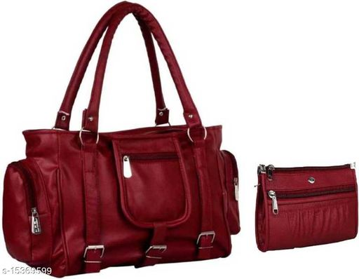 CLASSIC DESIGN MAROON WITH POUCH HAND BAG