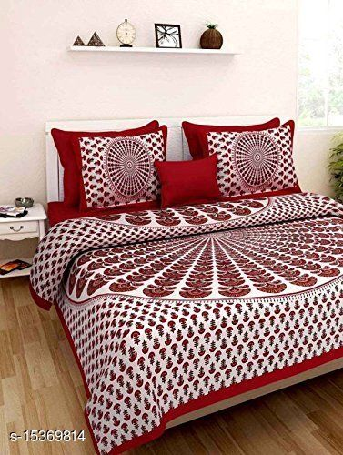cotton double bedsheet with free mask