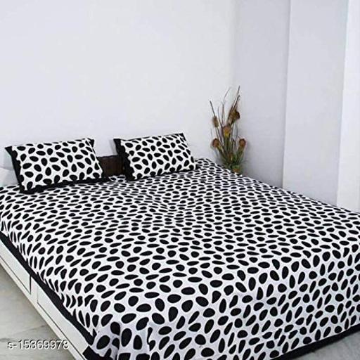 jaipuri printed double bedsheet with free mask