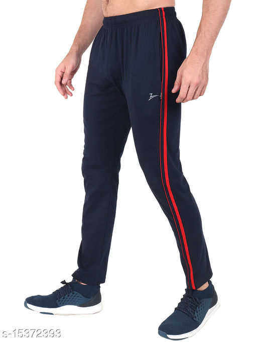 Zeffit Men's Pc Cotton Solid Track Pant-NAVY