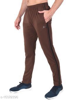 Zeffit Men's Pc Cotton Solid Track Pant-COFFEE
