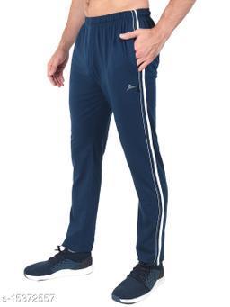 Zeffit Men's Pc Cotton Solid Track Pant-AIR FORCE