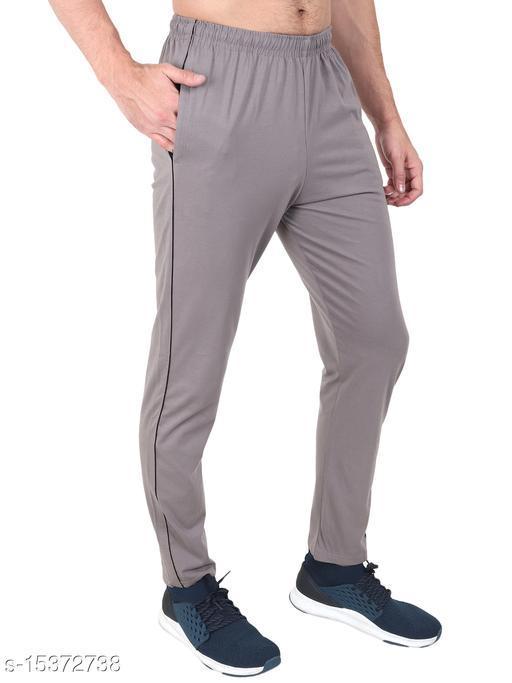 Zeffit Men's Pc Cotton Solid Track Pant-CEMENT