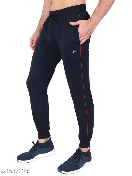 Zeffit Men's Pc Cotton Ankle Grip Track Pant-NAVY