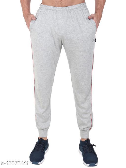 Zeffit Men's Pc Cotton Ankle Grip Track Pant-GREY