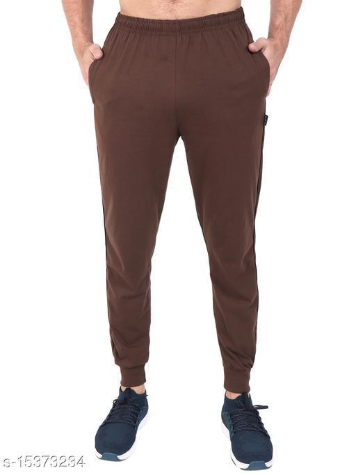 Zeffit Men's Pc Cotton Ankle Grip Track Pant-COFFEE