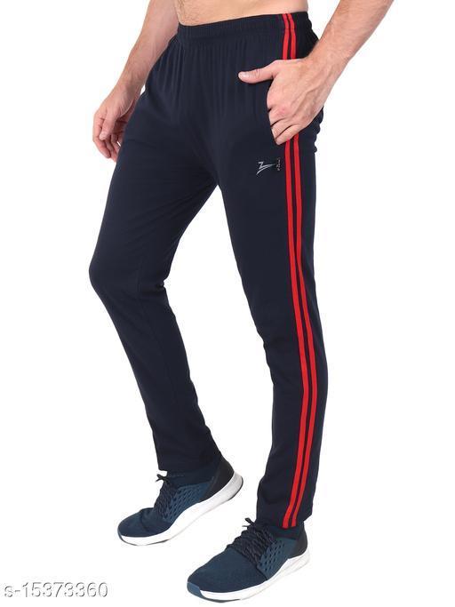 Zeffit Men's Pc Cotton Track Pant With Side Tape-NAVY