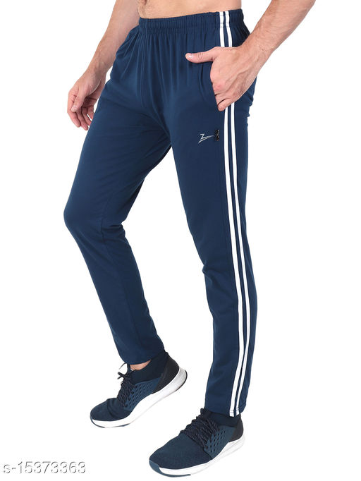 Zeffit Men's Pc Cotton Track Pant With Side Tape-AIR FORCE