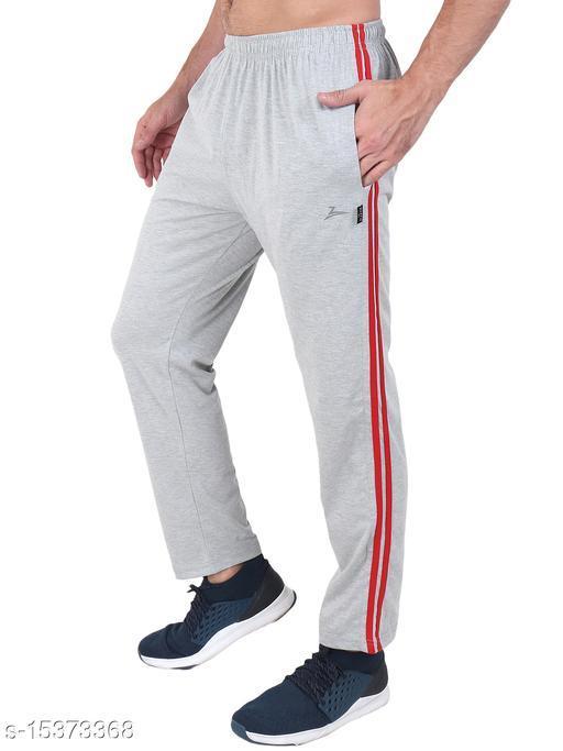 Zeffit Men's Pc Cotton Track Pant With Side Tape-GREY