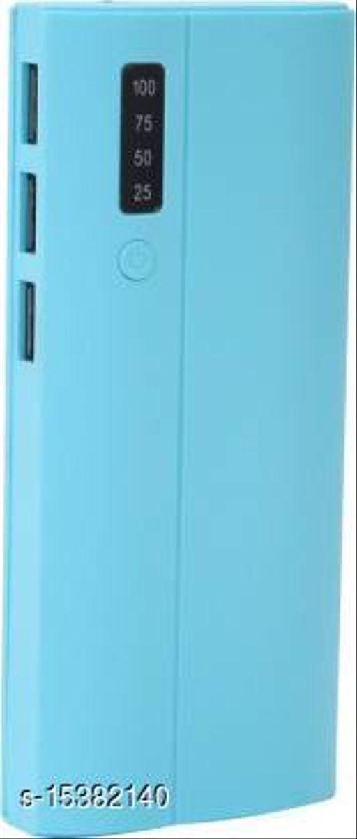 HBNS Percentage Indicator 20000mAh 3 USB Port Fast Charging Power Bank(Blue)