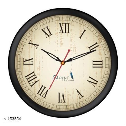 Classy Plastic Analog Wall Clock