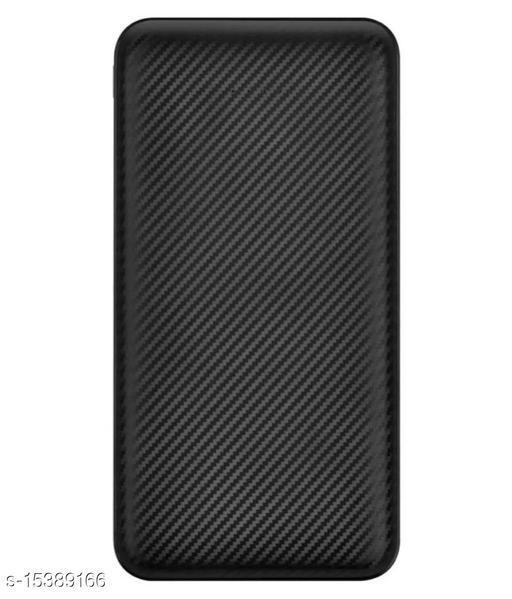 FRYSKA Stylish M2 Classic 10000mAh USB Port With Flash Light Fast Charging Power Bank(Black)