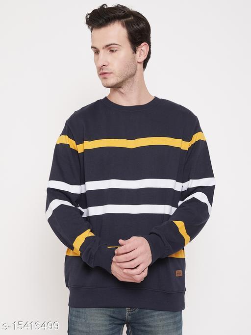Austin Wood Navy Blue Round Neck Sweatshirt
