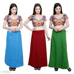 Trendy Cotton Women's Petticoat Combo (Set Of 3)