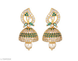 Mallepula Trendy CZ Stone and Micro Gold Plated Earrings Collection for Women and Girls