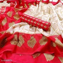 Trendy Womens Latest Printed Mysore Silk Saree with Blouse Piece