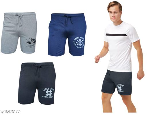 A2Classic Men's Cotton Shorts with Pockets (Pack of 3)