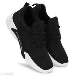 Stylish Men's PVC Black Sports Shoes
