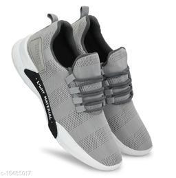 Lavista Men's Grey Mesh Running & Walking  Sports Shoes For Men