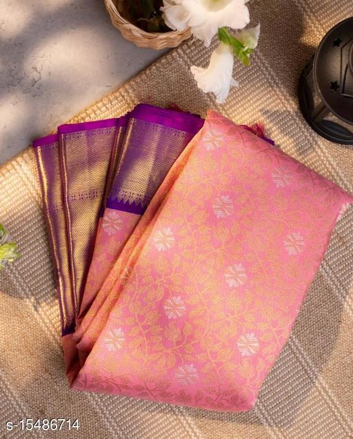 Fantastic Pink Color Kanchipuram Silk Saree