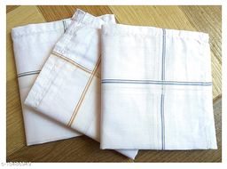 ARNAH TREASURE  Cotton Handkerchiefs Color Striped For Men(pack of 3)