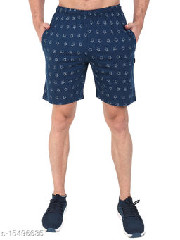 Zeffit Men Pc Cotton Printed Bermuda Shorts-Air Force